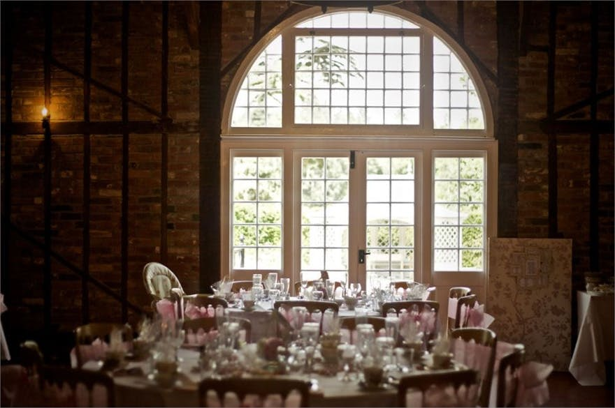 The Coach House at Marks Hall Reception Room and Garden Through the Windows | Confetti.co.uk