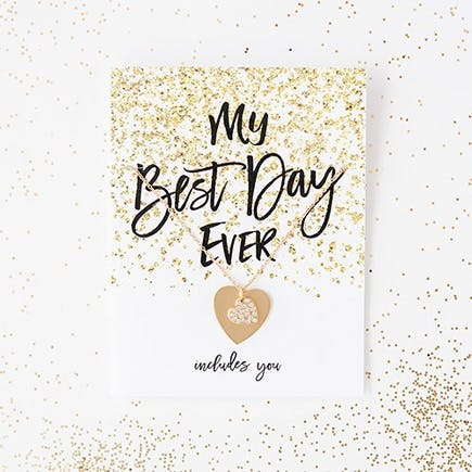 Black and Gold Sparkle Thank You Card With Fold Will You Be My Bridesmaid | Confetti.co.uk