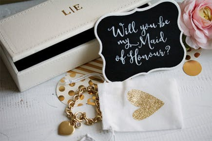 Bridesmaid Made of Honour Jewellery Gift Set | Confetti.co.uk
