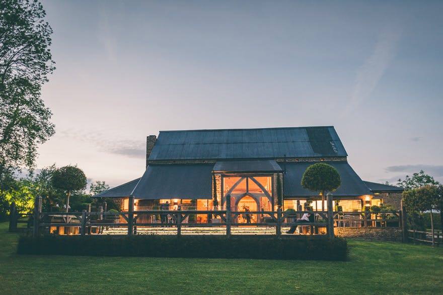 Cripps Barn Wedding Venue in Cirencester Gloucestershire - Exterior by Rob Tarren Photography | Confetti.co.uk