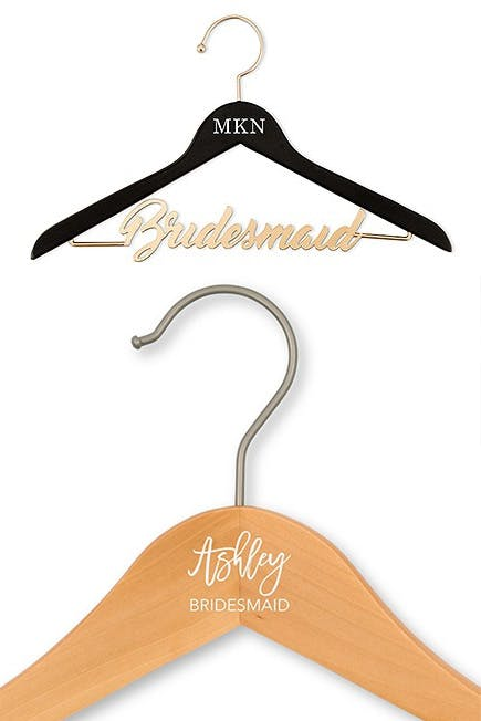 Personalised Bridesmaid Clothes Hangers | Confetti.co.uk