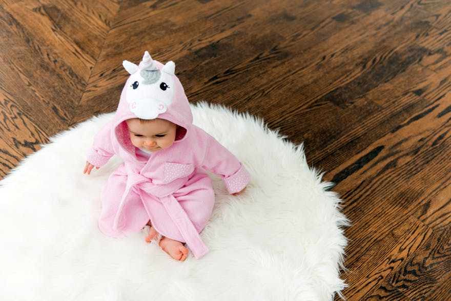 Pink Unicorn Hooded Bathrobe and Dressing Gown | Confetti.co.uk