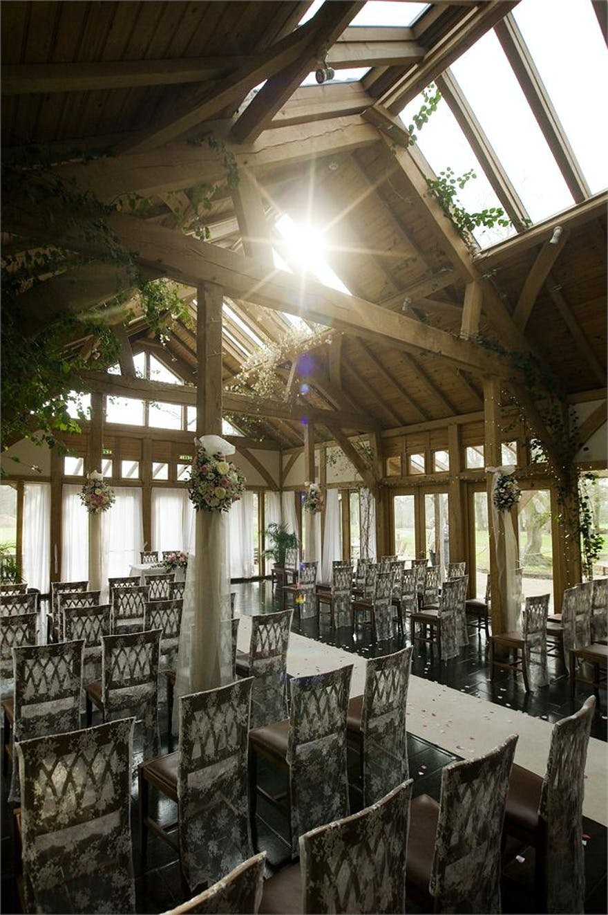 The Oak Tree of Peover Wooden Beams Barn Wedding Wedding Venues Cheshire | Confetti.co.uk