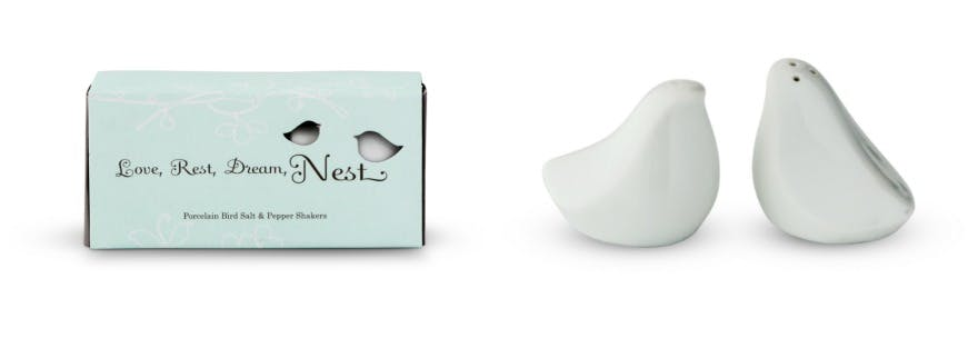 Salt and peper shaker love birds | Confetti.co.uk