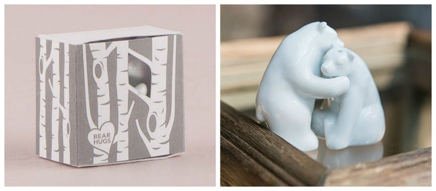 Bear hugs salt and pepper shakers | Confetti.co.uk