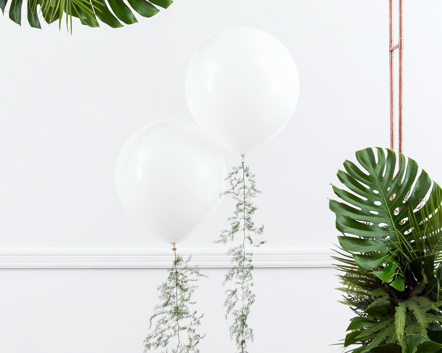 White Wedding Balloon Decor | Confetti.co.uk