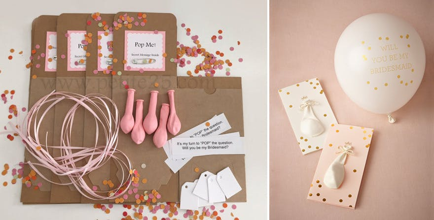 Will You Be My Bridesmaid Balloons | Confetti.co.uk