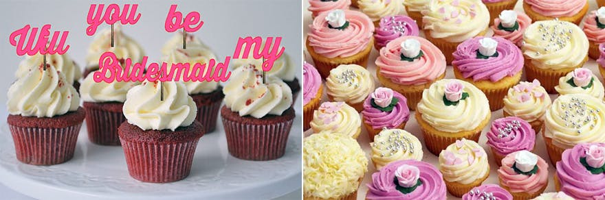 Will You Be My Bridesmaid Cupcakes | Confetti.co.uk