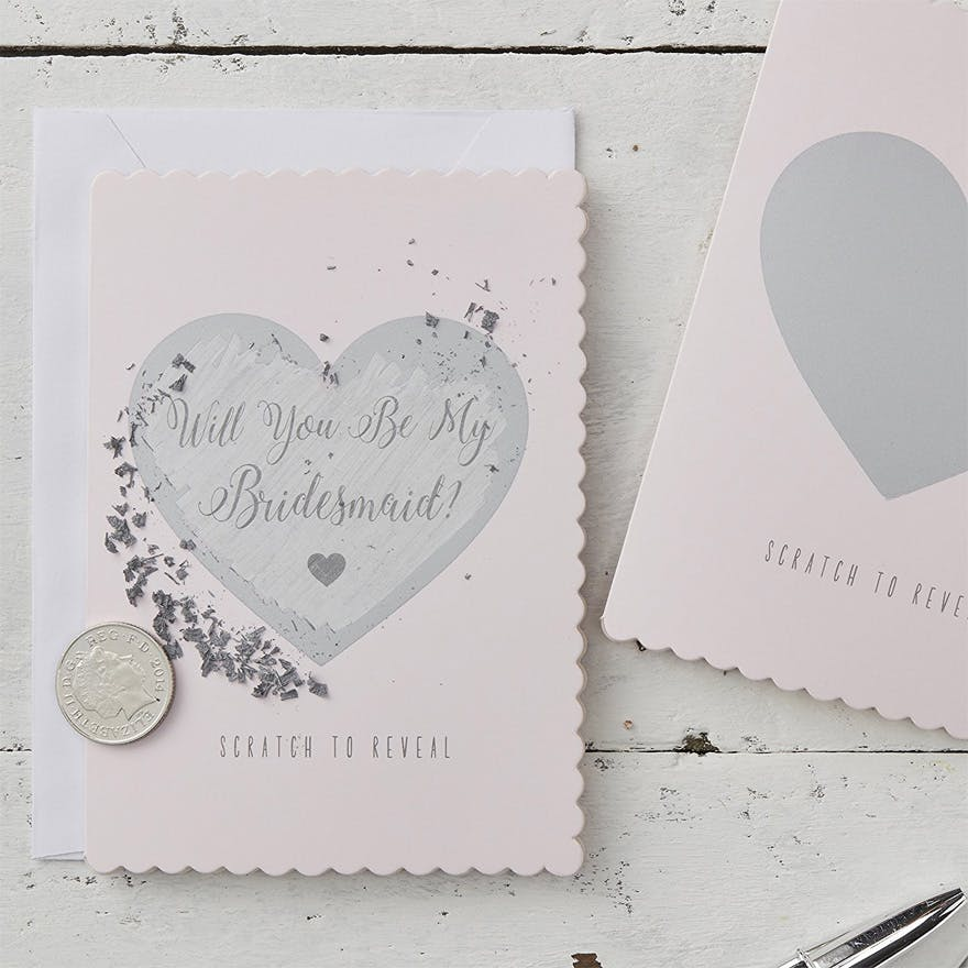 Will You Be My Bridesmaid Scratch Cards | Confetti.co.uk