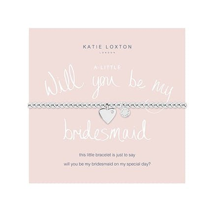 Will You Be My Bridesmaid Silver Bracelet With Heart Charm | Confetti.co.uk