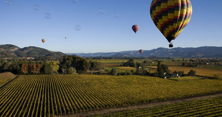Amazing Hot Air Balloon Ride Over Napa Valley in San Francisco California by Tinggly Gift Experiences | Confetti.co.uk
