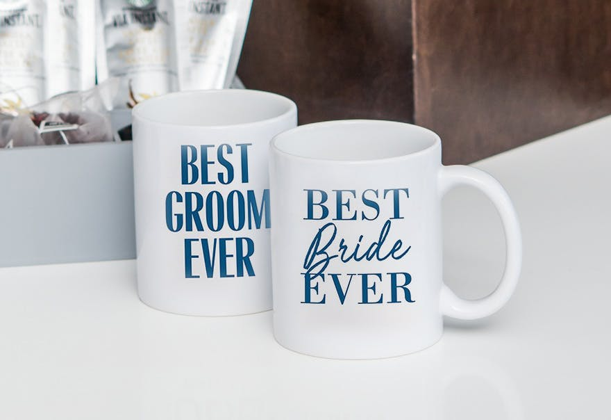 Best Bride Ever and Best Groom Ever Personalised Coffee Mug | Confetti.co.uk