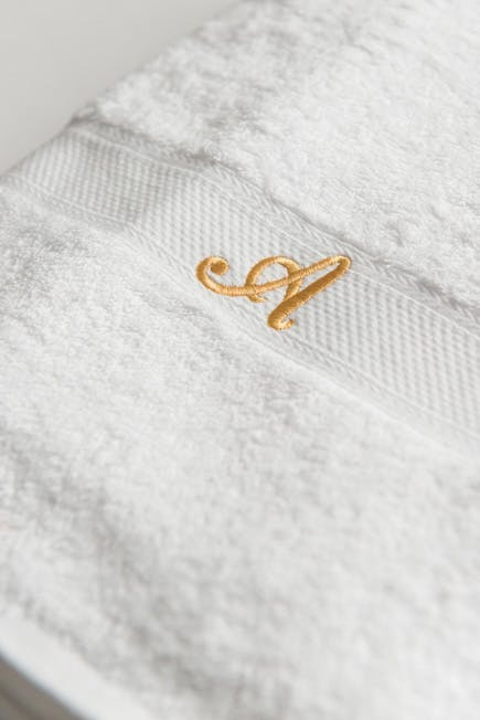 Luxury Terry Velour Cotton Towels with Gold Personalisation | Confetti.co.uk
