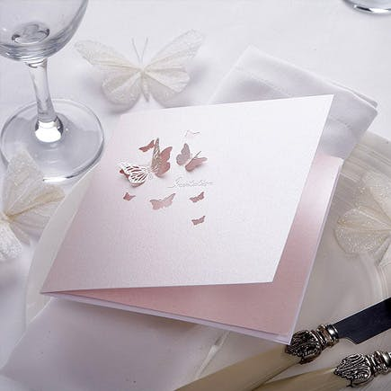 Pearl Butterfly Invitation | Confetti.co.uk