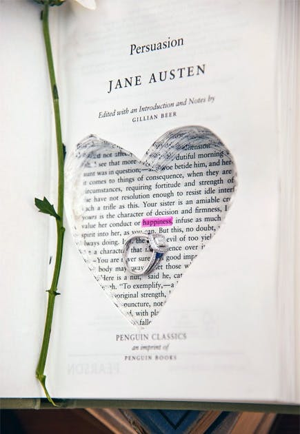 Persuasion by Jane Austen Book Ring Box Proposal Idea | Confetti.co.uk