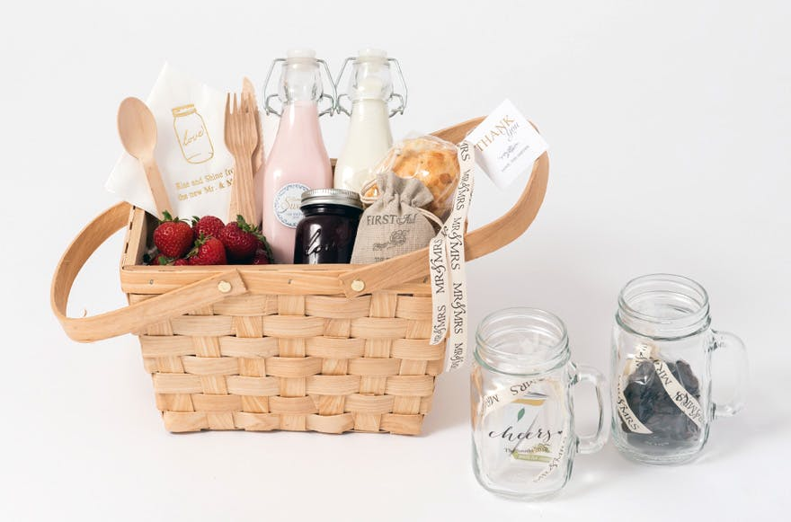 Picnic Basket Gift Box Wedding or Anniversary Gift Idea | Confetti.co.uk