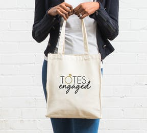Totes Engaged Personalised Cotton Canvas Tote Bag | Confetti.co.uk