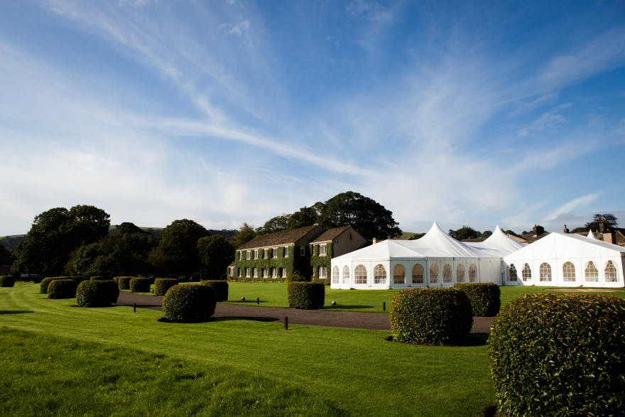 Marquee at the Devonshire Arms Hotel and Spa | Confetti.co.uk