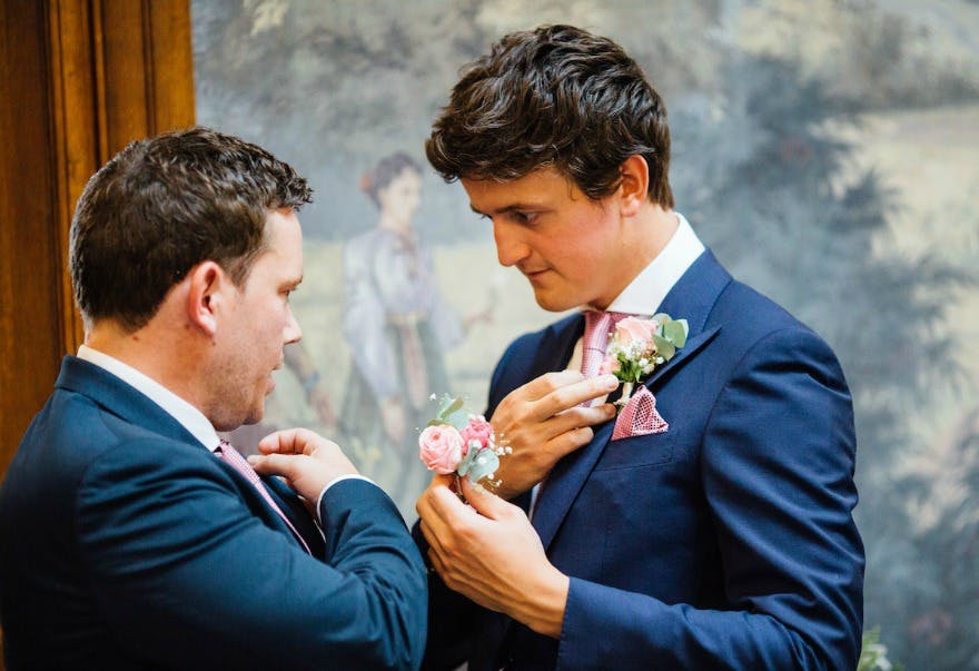Buttonholes at Jessica and Ed's wedding | Confetti.co.uk