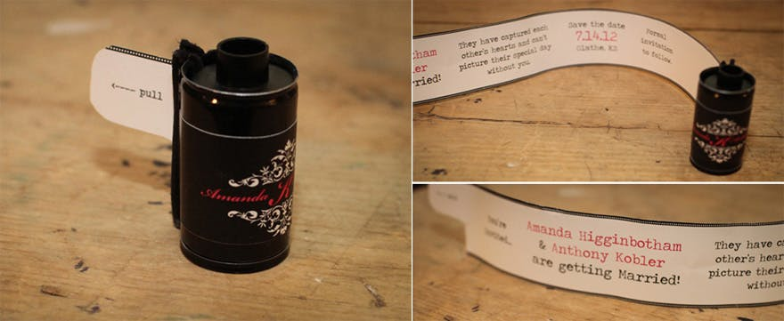 Diy Film Canister Save The Date Idea From Oh So Lovely Confetti Co