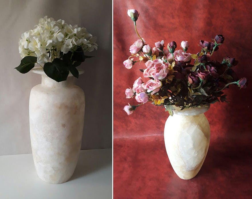 Handmade Alabaster Vases - Egyptian Alabaster Vase by AlabasterAndPapyrus on Etsy | Confetti.co.uk