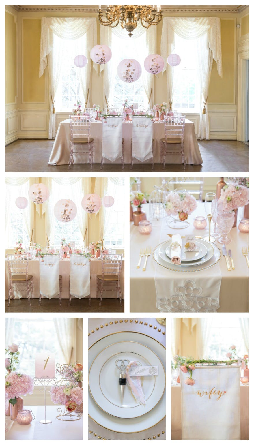 Classic wedding table decorations and chair decor | Confetti.co.uk
