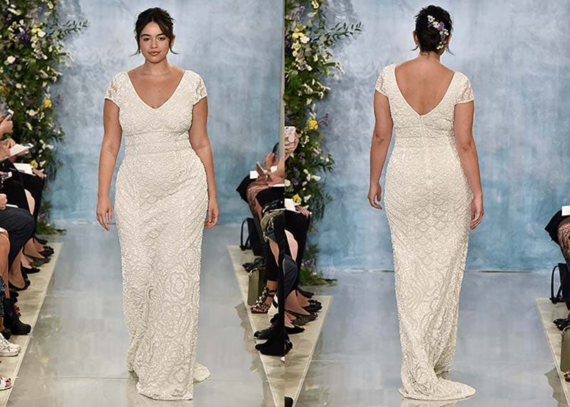 Plus size wedding dress designers theia