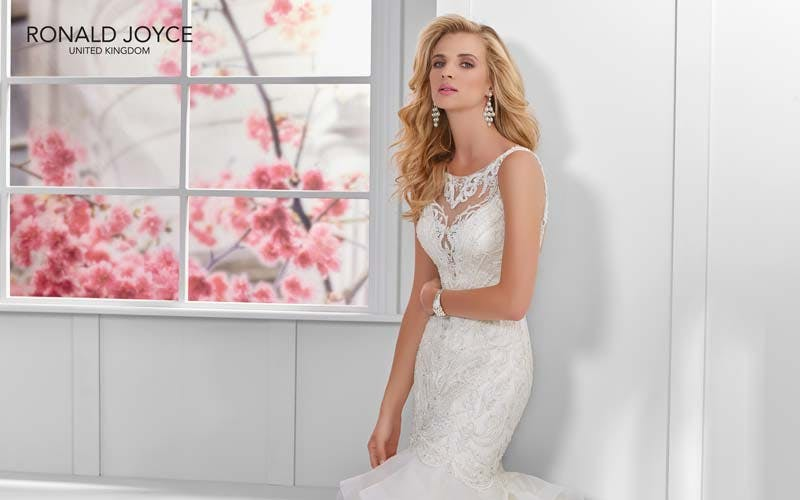 Glamorous wedding dress designer Ronald Joyce