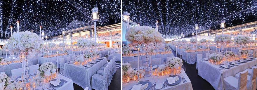 Beautiful Light Display for Star Wars Wedding Reception | Confetti.co.uk