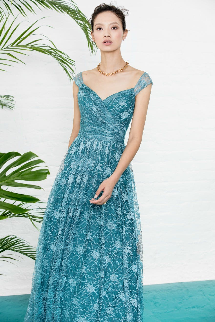 Blue bridesmaid dresses by Kelsey Rose | Confetti.co.uk