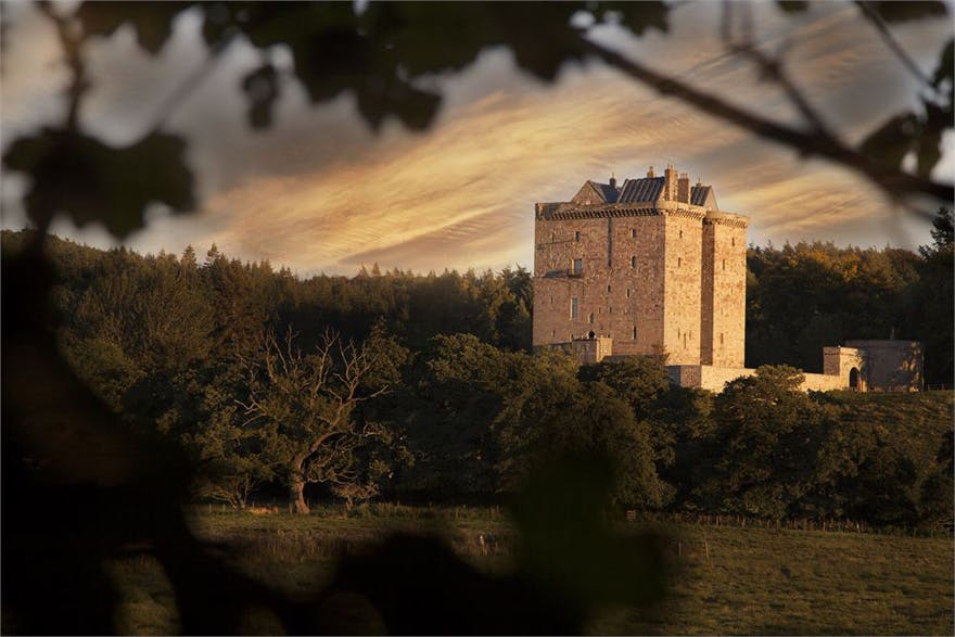 Borthwick Castle near Edinburgh, Scotland - Medieval Scottish Castle - Castle Sunset Photography - Story Book Wedding Venues | Confetti.co.uk