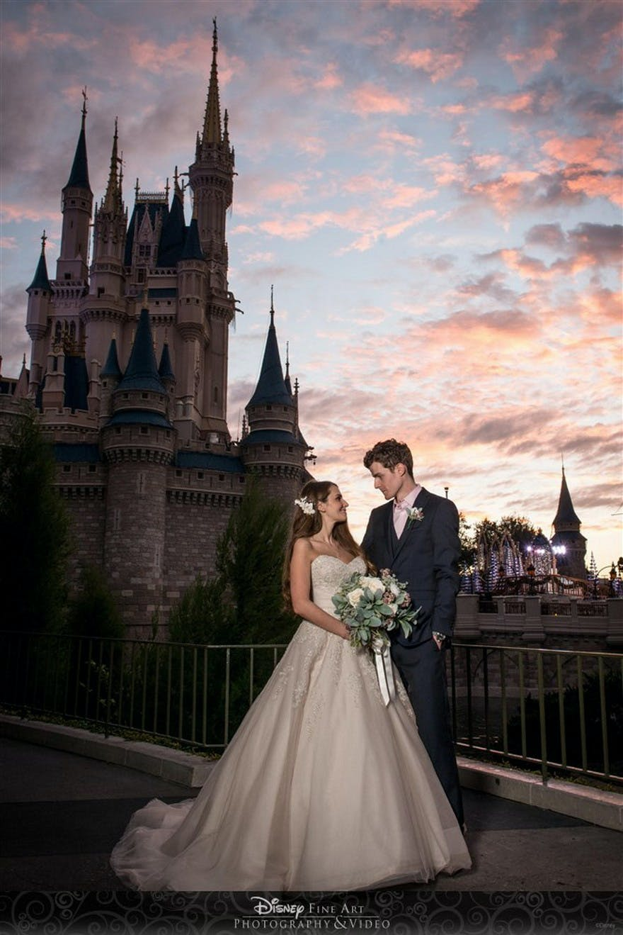 Cinderella's Castle at Disney World, Orlando, Florida, United States of America - Katy and Matthew's Fun Fairytale Disney Wedding - Getting Married at Disneyland | Confetti.co.uk