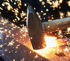 Day Off Spent Blacksmithing At Oldfield Forge by Oldfield Forge on Not on the Highstreet Unusual Activities and Experiences - Blacksmith Hammer with Flying Sparks Thumbnail | Confetti.co.uk