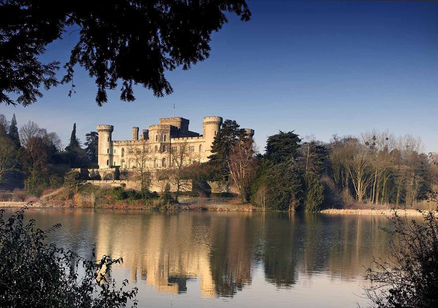 Eastnor Castle Fairytale Lakeside Castle Wedding Venue in Herefordshire - Georgian Castle in the foothills of the Malverns - Winter Castle by the Lake in the Sunlight | Confetti.co.uk