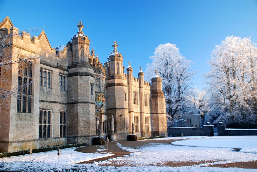 Hengrave Hall Grand Tudor Mansion Wedding - Historic Wedding Venue in Suffolk, England - Winter Wedding Venue - Hengrave Hall in Winter - Snow Covered Wedding Venue | Confetti.co.uk