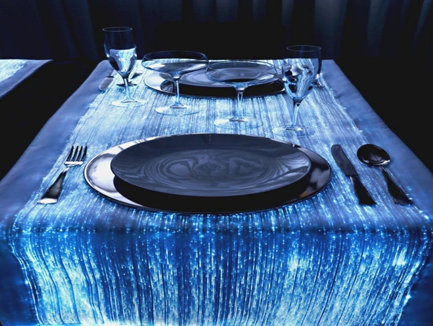 LED Fibre Optic Lights Table Cloth | Confetti.co.uk