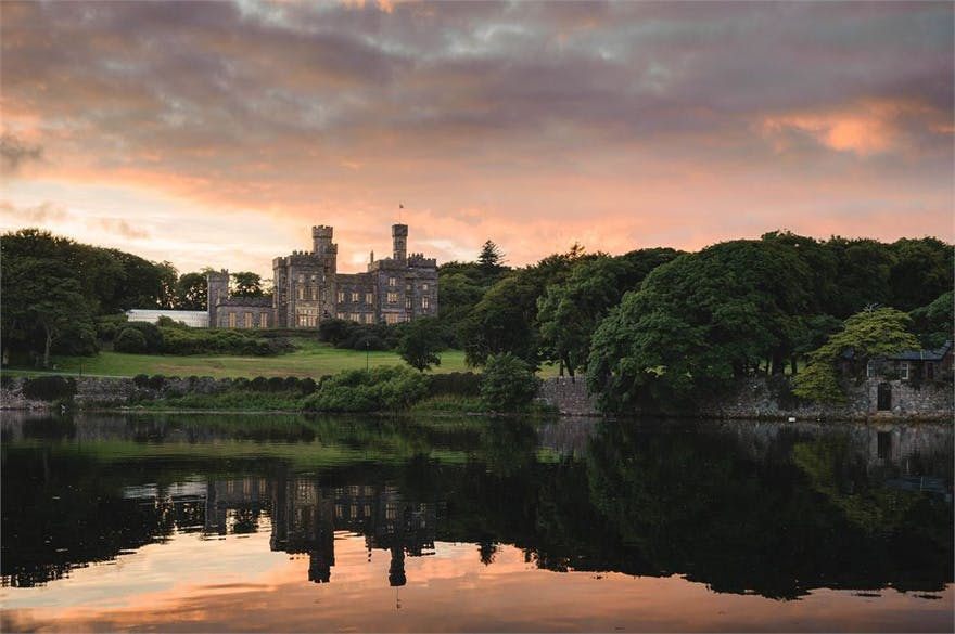 Lews Castle Victorian Era Castle on the Isle of Lewis in Scotland - Beautiful Castle Sunset Photography with Reflection on the Water | Confetti.co.uk