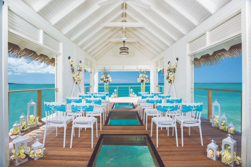 Over the Water Chapel - Sandals South Coast Jamaica - Aisle to Isle Sandals & Beaches Weddings Caribbean Beach Wedding | Confetti.co.uk