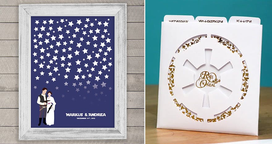 Star Wars Stationery and Star Wars Wedding Guest Book Ideas | Confetti.co.uk