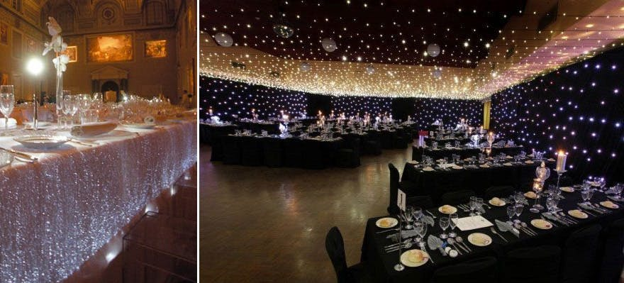 Star Wars Wedding Reception Lighting Ideas - Fibre Optic LED Table Covers | Confetti.co.uk