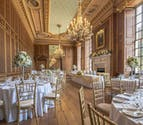 Gosfield Hall Elegant Ballroom and Lavish Dining Room with Large Windows - Beautoful Stately Home Manor House Wedding Venue | Confetti.co.uk