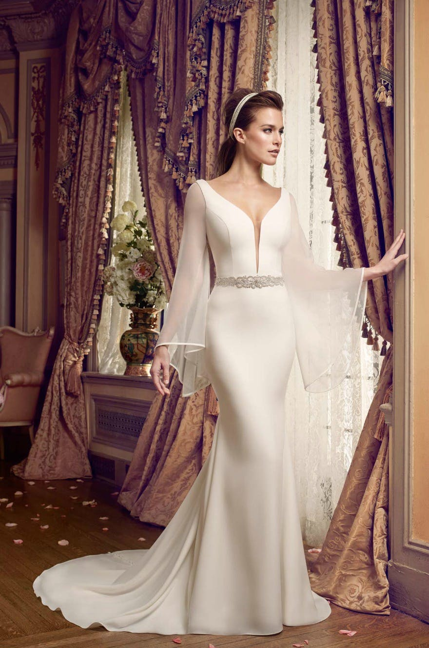 Wedding dress with sleeves by Mikaella | Confetti.co.uk