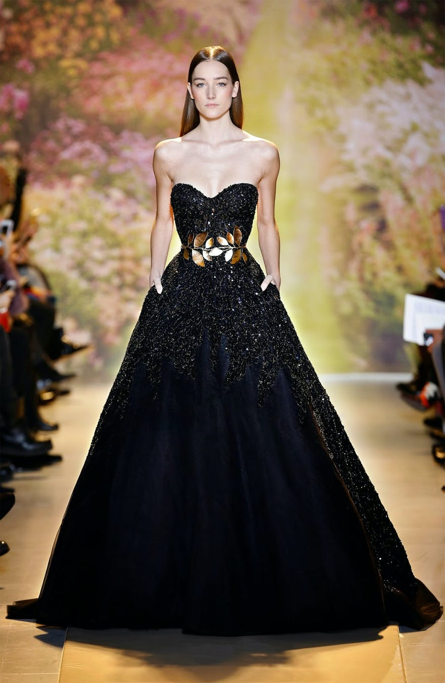 Zuhair Murad Haute Couture Spring-Summer 2014 Runway - Black and Gold Dress | Confetti.co.uk