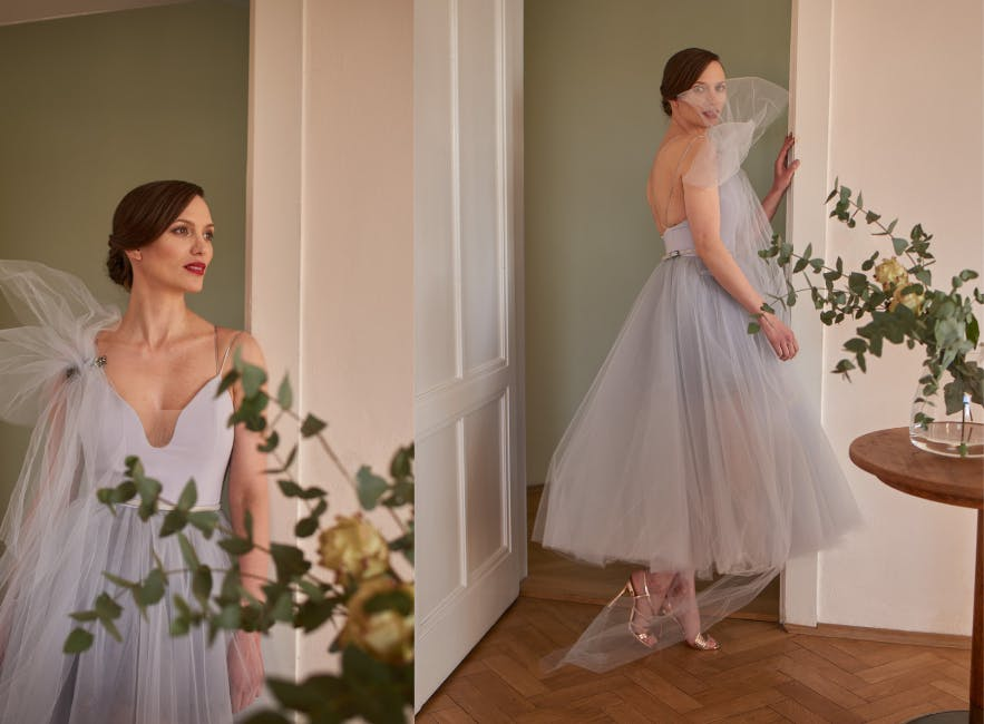 Shorter alternative wedding dress