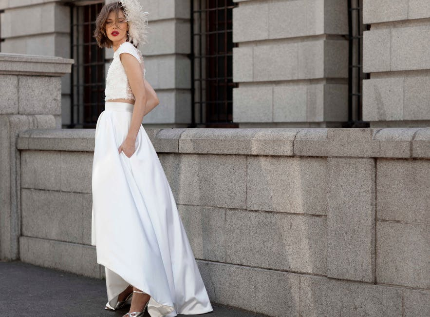 Alternative bridal separates look