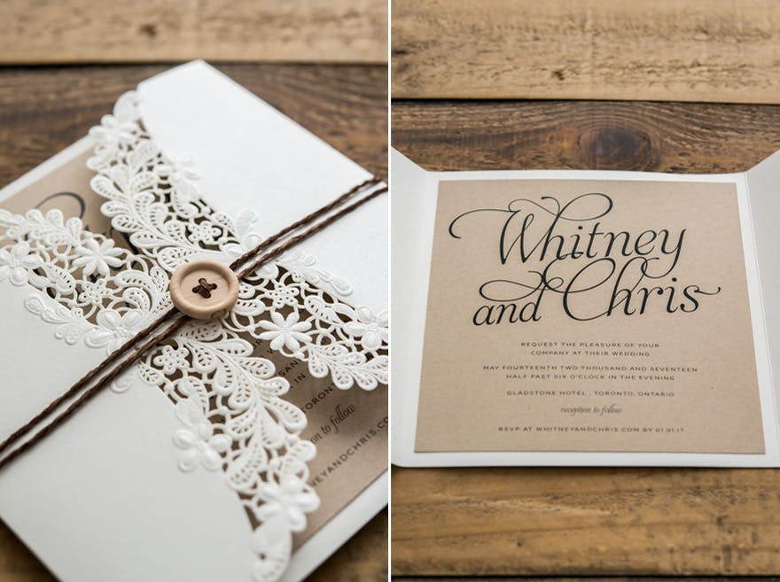 Country Vintage Wedding Invitations Easy Craft Ideas
