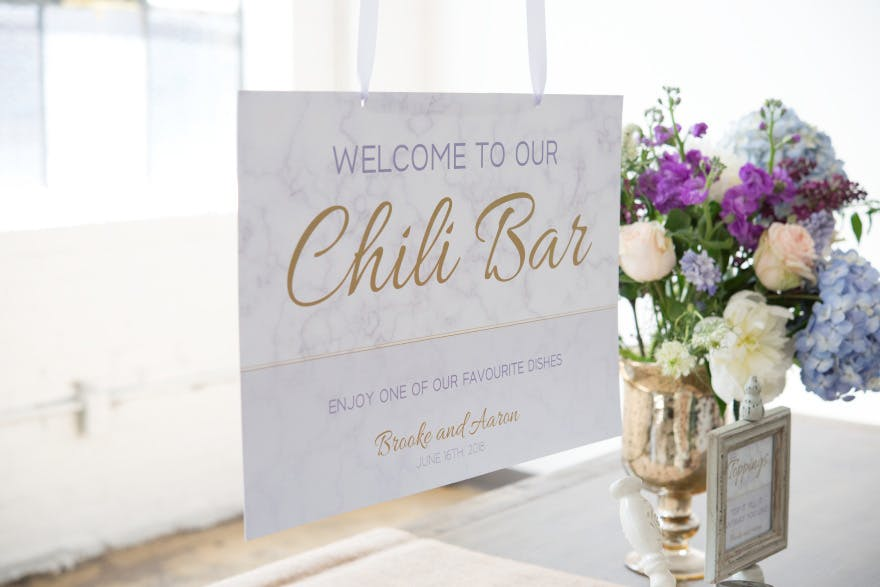 Geo Marble Welcome Poster - Purple and Gold Modern Wedding Ideas - Best Wedding Sign Ideas - Wedding Bar Sign | Confetti.co.uk