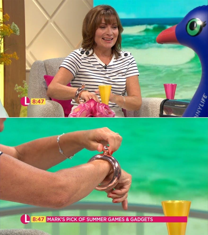 Our Rose Gold Bangle Flask Has Been Featured on ITV's Lorraine | Confetti.co.uk