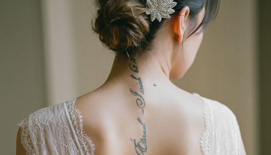Brides Who Rocked Tattoos on Their Wedding Day - Greg Finck Photography | Confetti.co.uk