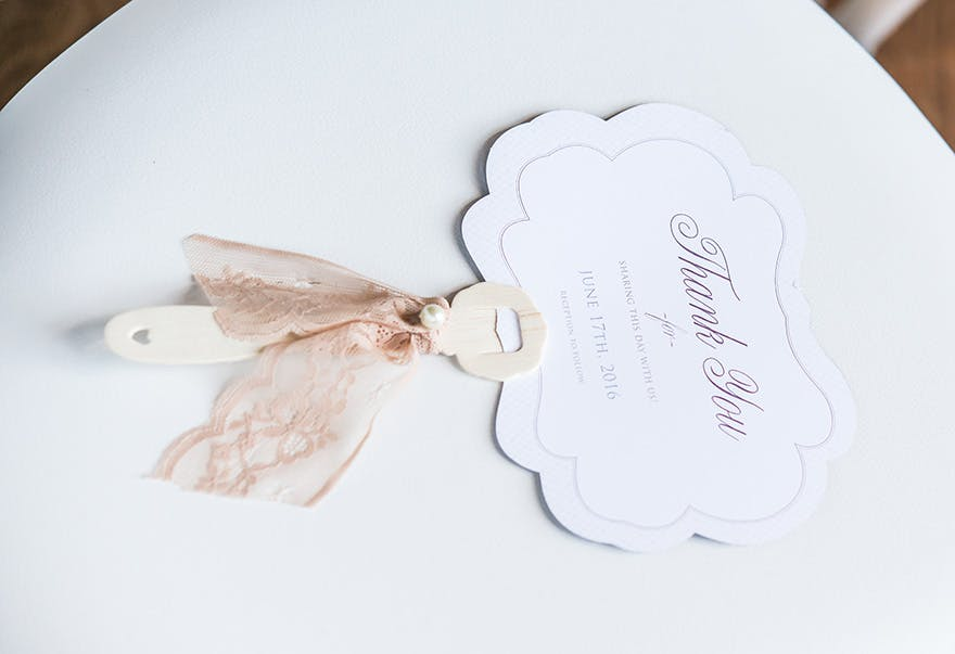 Contemporary Vintage Hand Fan - Vintage Style Thank You Card | Confetti.co.uk